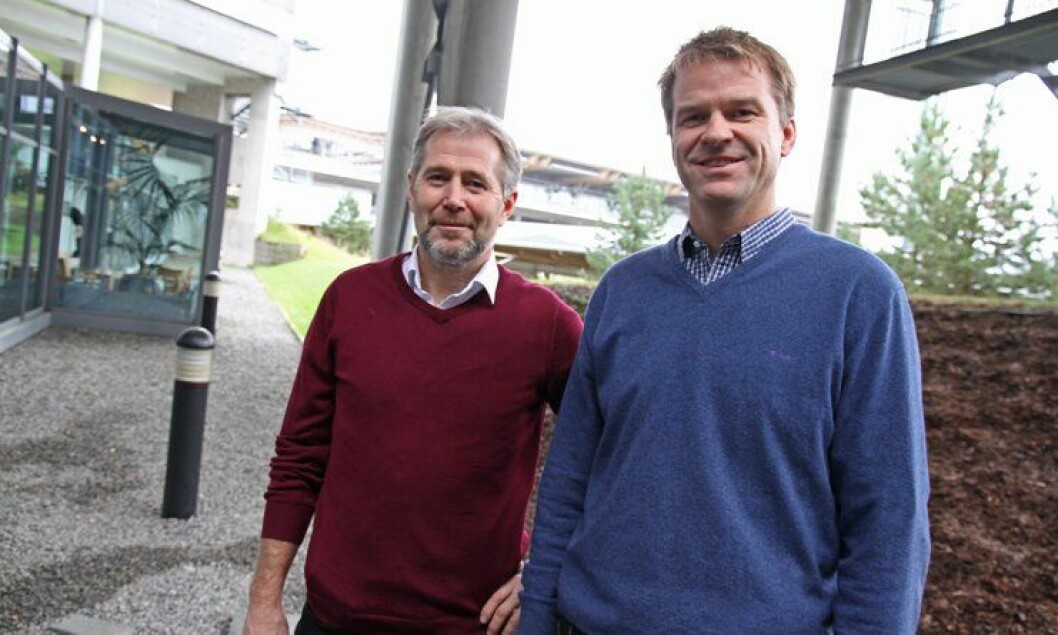 Arne Johannessen og Sigve Bolstad, leder og nestleder i Politiets Fellesforbund (PF).