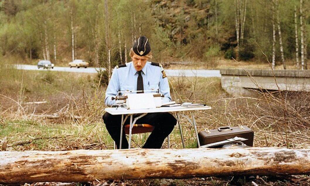 Oddgeir Fossbakken på UP-patrulje sommeren 1981.