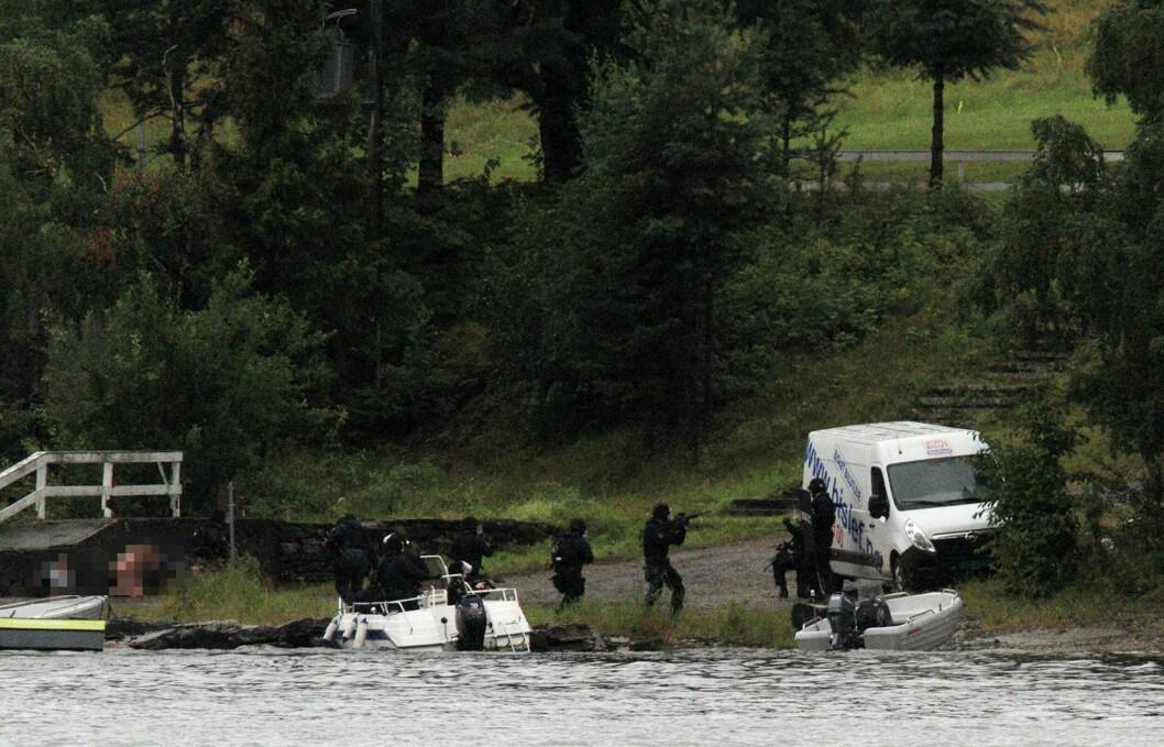 Beredskapstroppen på Utøya 22. juli 2011.