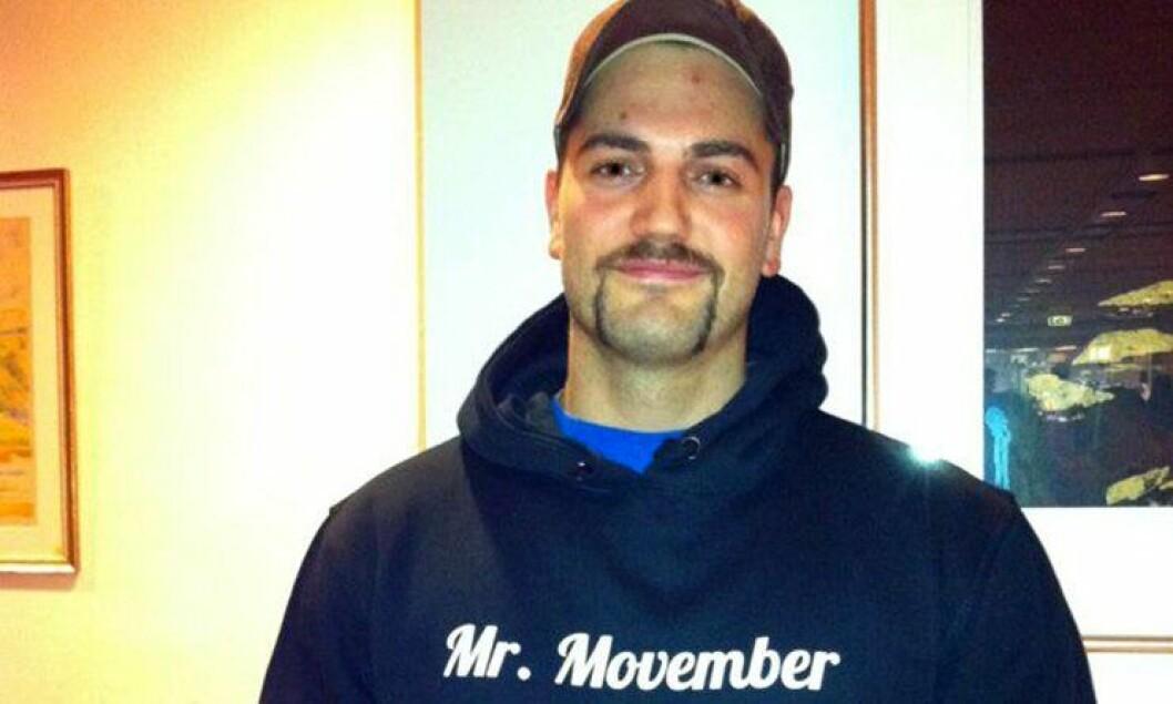 Jonas Andreassen hadde den beste politibarten på Politihøgskolen under Movember-kampanjen 2012.