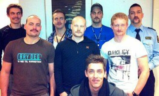 Studenter ved Politihøgskolen i Oslo deltok under Movember-kampanjen 2012.