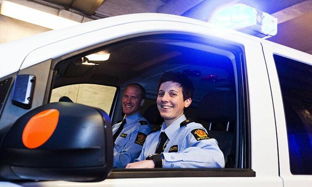 Politibetjentene Helga og Stian ved Hammerfest politistasjon var med i TV Norge-serien Nattpatruljen.