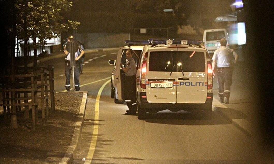 Politiaksjon på Carl Berners plass i Oslo.