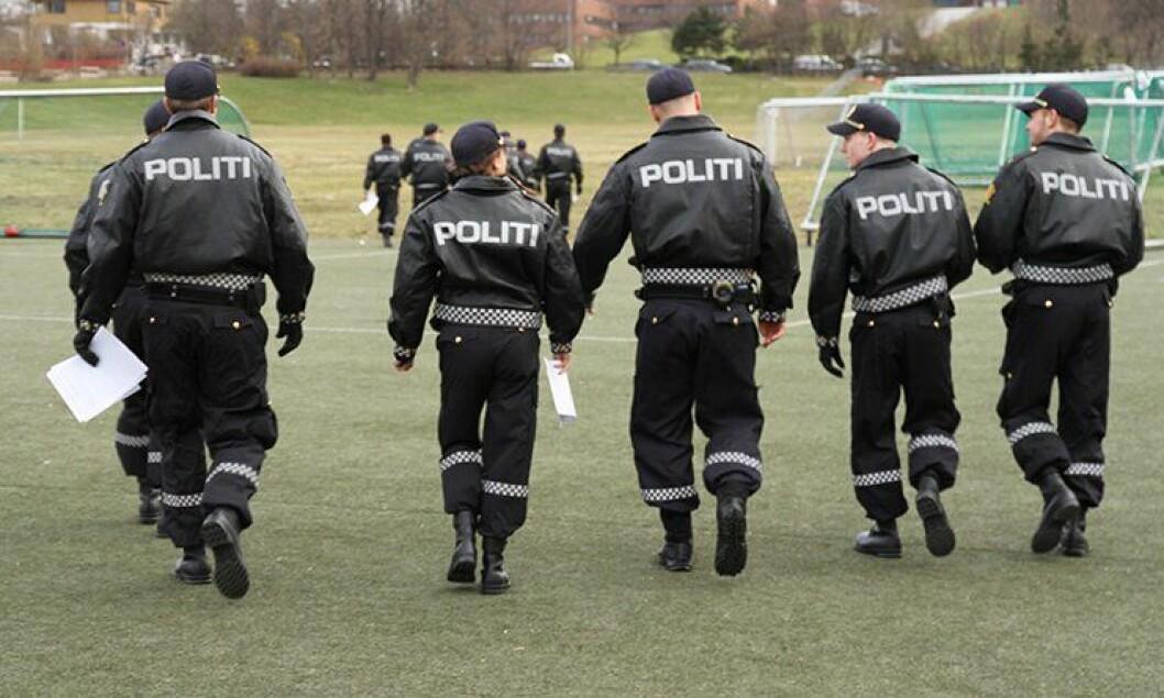Politistudenter ved Politihøgskolen i Oslo.