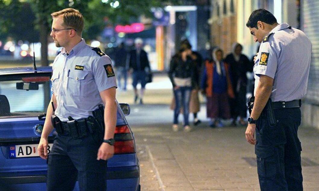 Politipatrulje på Grønland i Oslo.