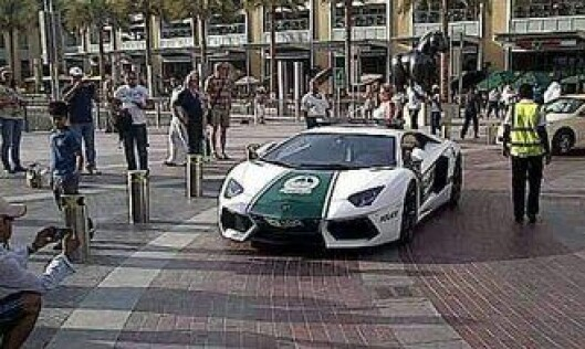 Dubai-politiets Lamborghini Aventador.