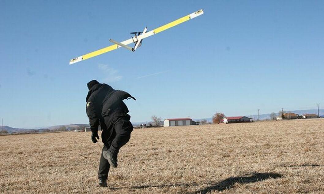 Dronen Falcon T er i lufta i Mesa County, USA.