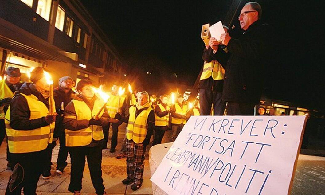 200 innbyggere aksjonerte for lokalpolitiet i Rennebu kommune.