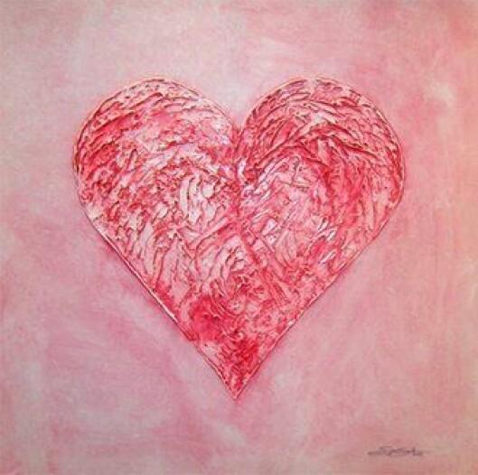 Maleriet «Hjerte» av politiførstebetjent Sverre Sandnes.