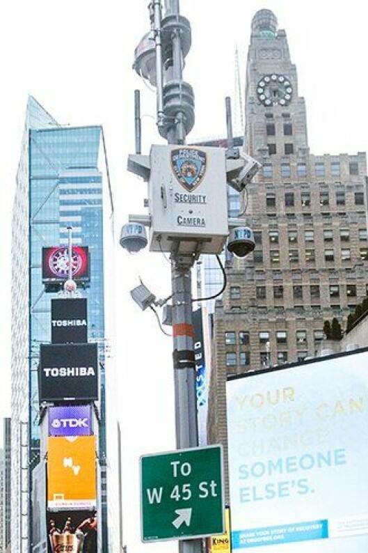 Videoovervåkning i New York.