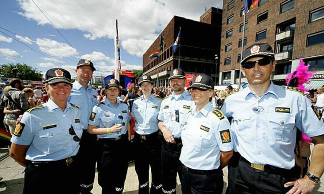 Politiet deltok for første gang i homoparaden i 2005.