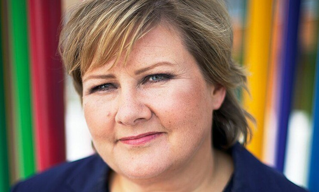 Erna Solberg, partileder Høyre.