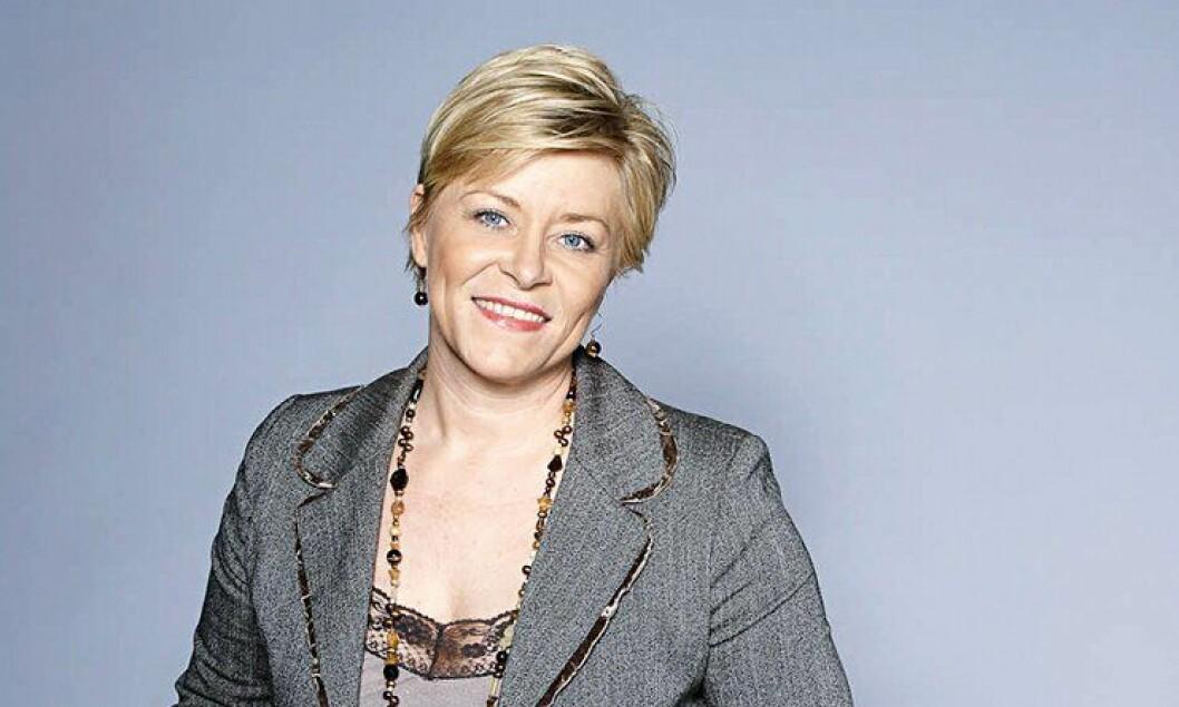 Siv Jensen, partileder Fremskrittspartiet.