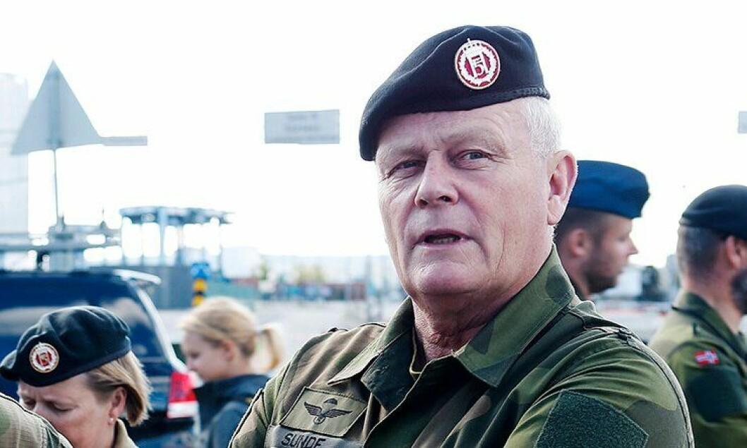 Forsvarssjef Harald Sunde.