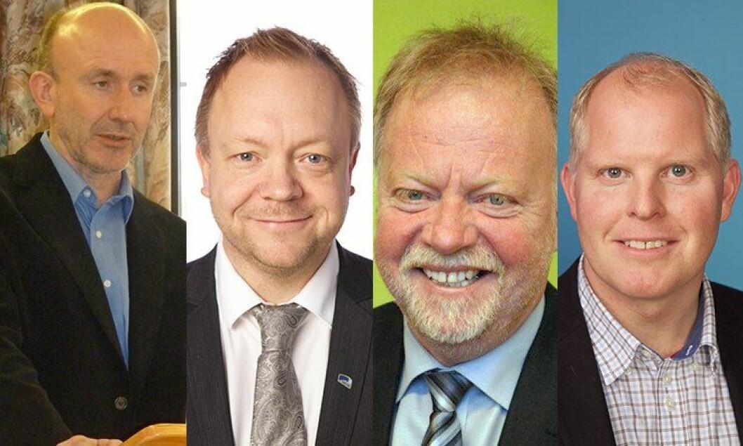 Ordførerne Harald Offerdal i Balestrand(Ap), Bengt Solheim Olsen i Flora (H), Anders Ryssdal i Gloppen (Sp) og Morten Andreas Hagen i Vågsøy (H), er fire av de 26 ordførerne i Sogn og Fjordane som har underskrevet et opprop mot sentraliseringsforslagene i politianalysen.