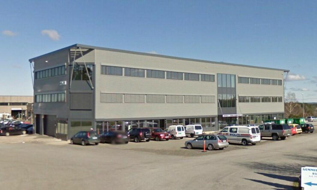 Vansjø lensmannskontor i Østfold, like ved E6.