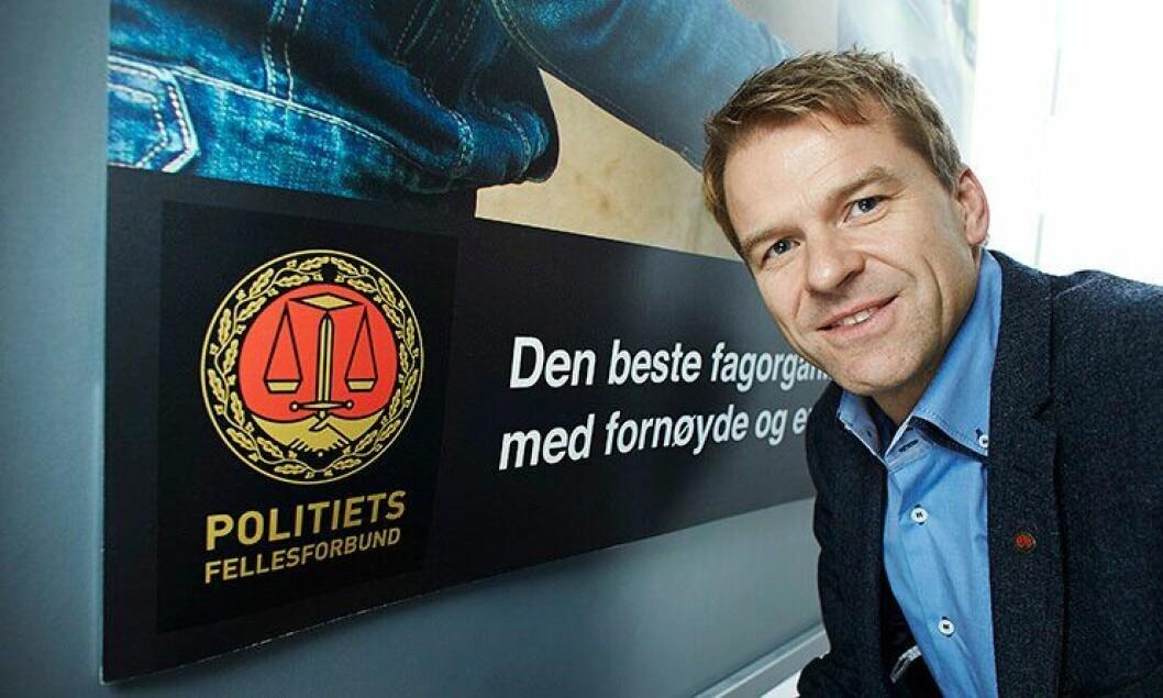 Leder for Politiets Fellesforbund, Sigve Bolstad.