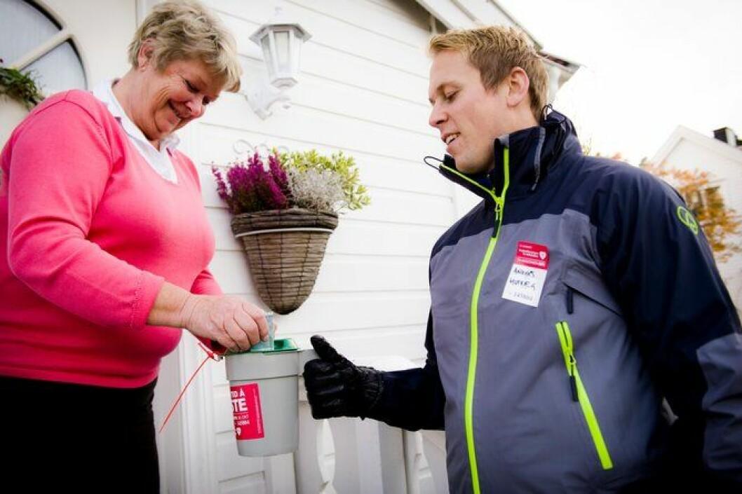 Politistudent Anders Husvåg i Kongsvinger samlet inn penger til TV-aksjonen 1