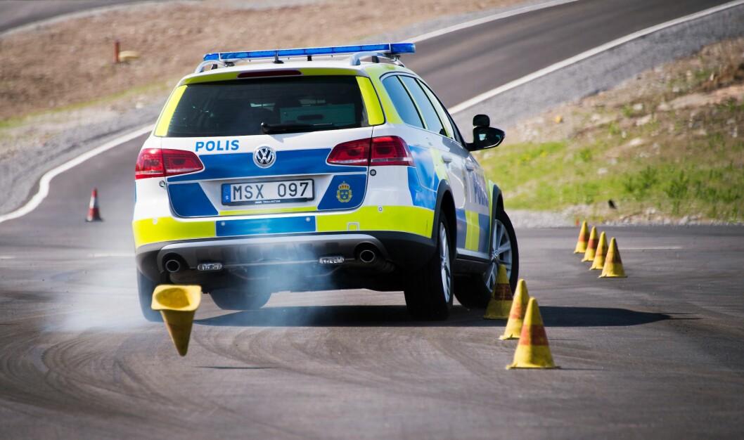 Svensk politi har testet politibiler.