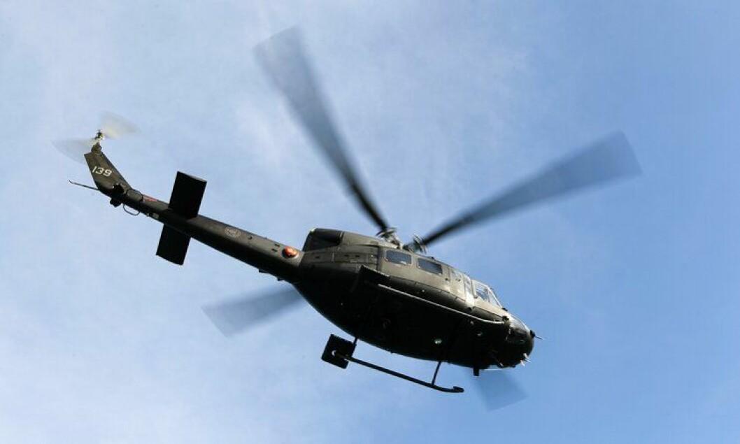 Forsvarets Bell-412 SP-helikopter.