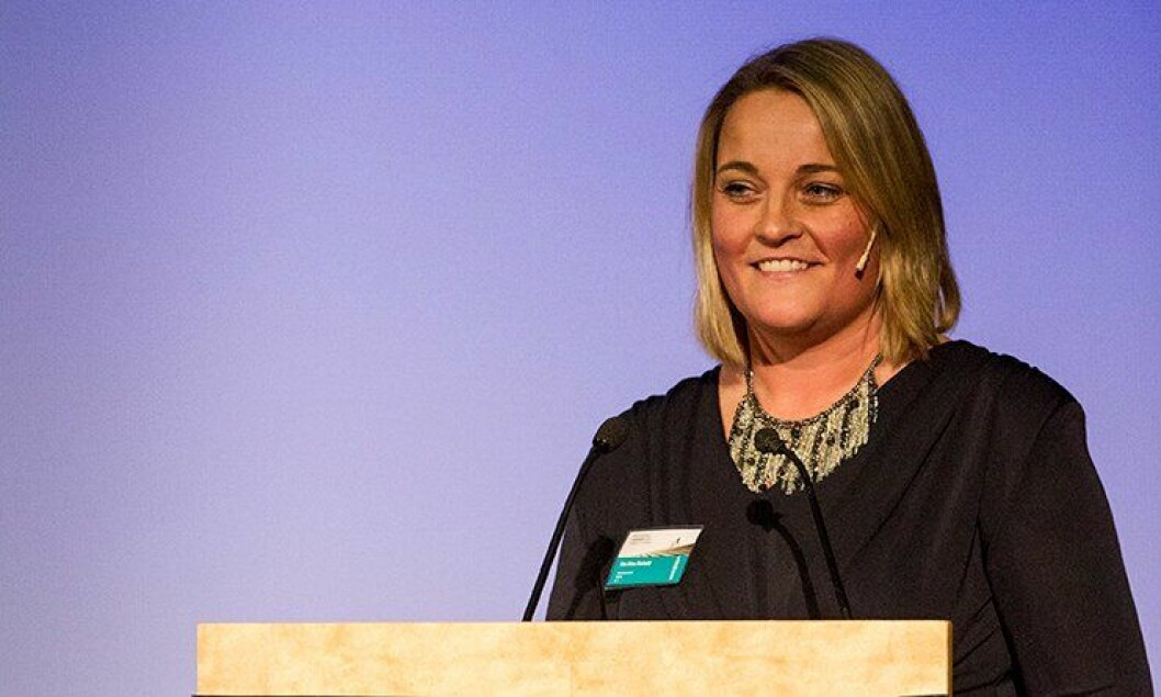 PF-nestleder Unn Alma Skatvold under Politiets Fellesforbunds (PF) landsmøte i Sarpsborg 2013.