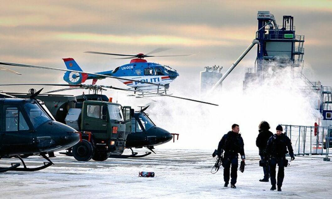Forsvaret og politiet jobbet side om side under Nobelprisutdelingen i 2012.