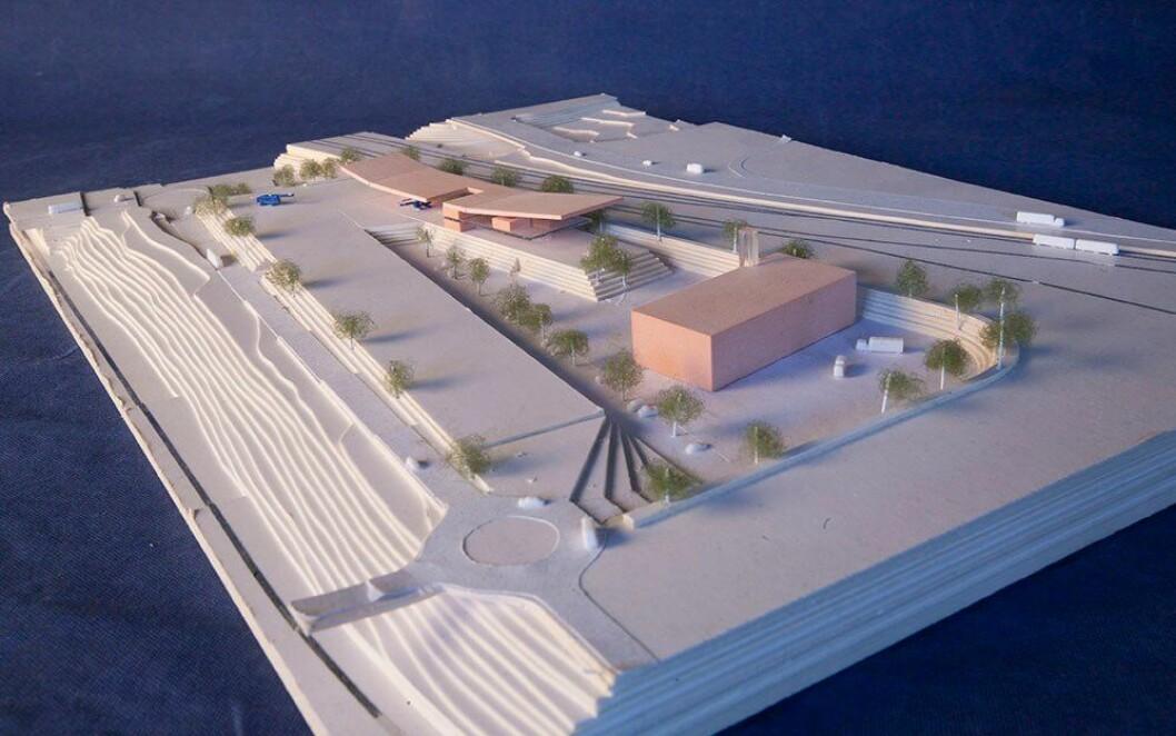 Stein Halvorsen arkitekter AS utarbeidet den siste modellen for hvordan politiets beredskapssenter kan se ut, dersom det plasseres på Alnabru.