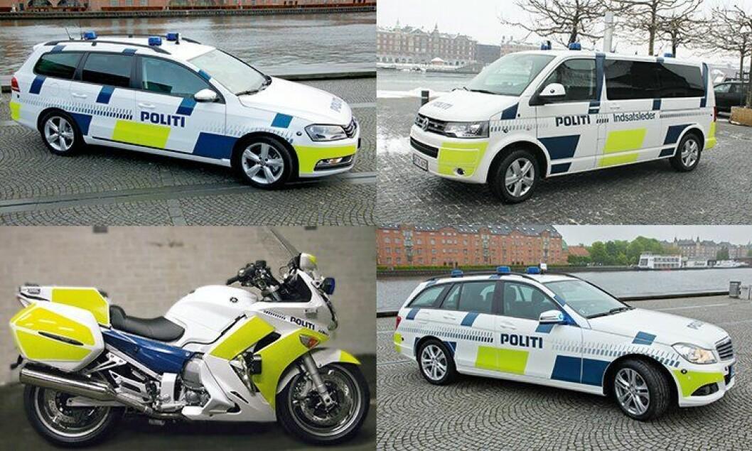 Dansk politi har valgt tyske kjøretøyer for de neste årene - samt en japansk motorsykkel.