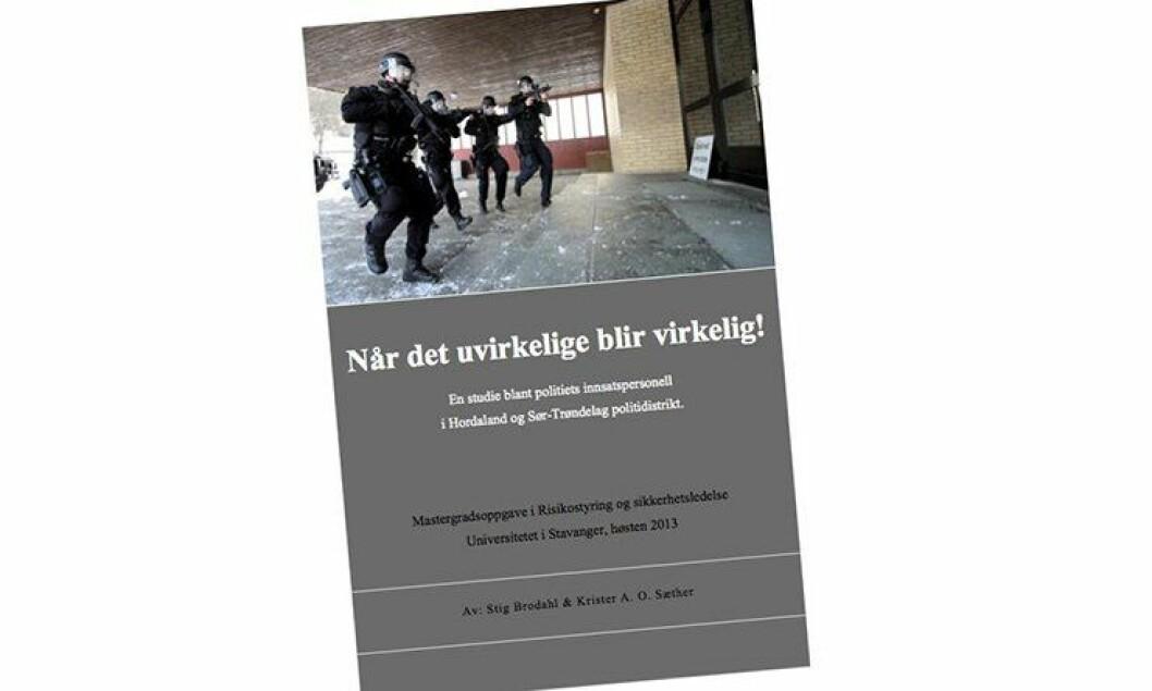 Krister Sæther og Stig O. Brodahl har undersøkt om politiets innsatspersonell har kompetanse til å håndtere de skarpeste hendelsene.