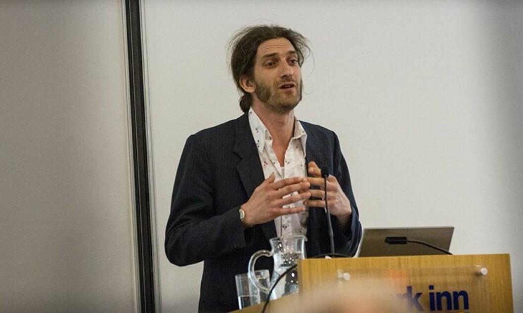 Lars Kolberg fra Likestillings- og inkluderingsombudet under Mangfoldskonferansen 2014.
