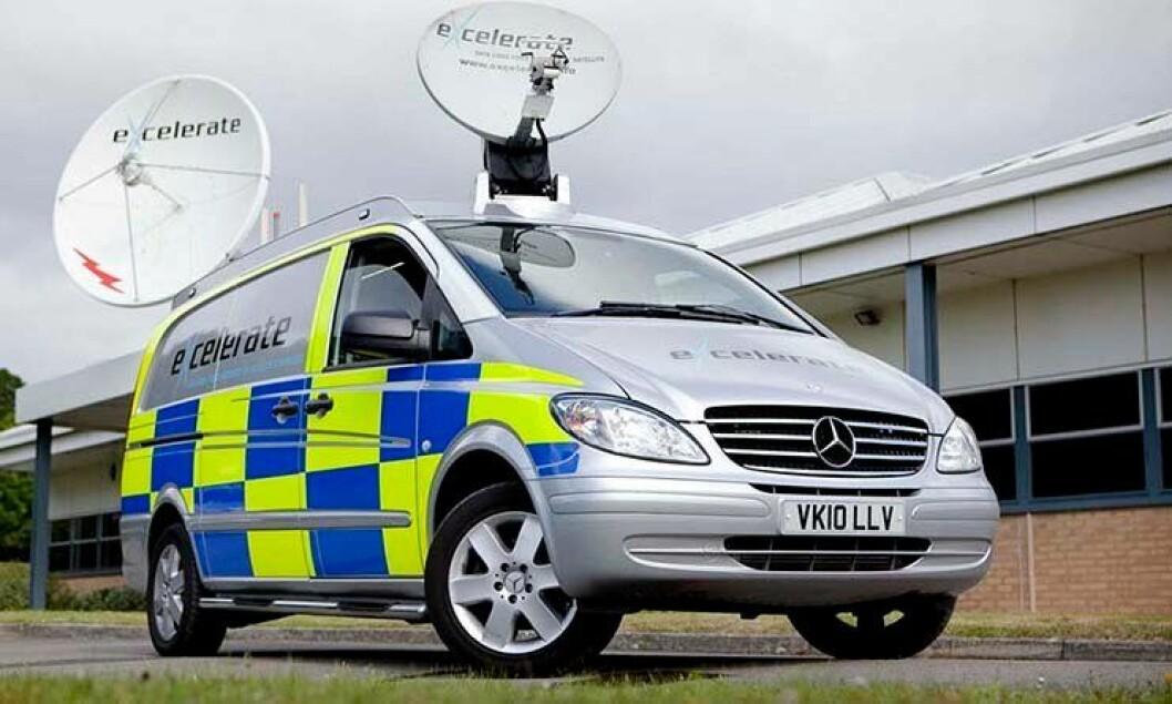 Ny satelittbil med parabolantenner skal bedre innsatsledelsen hos britisk politi.
