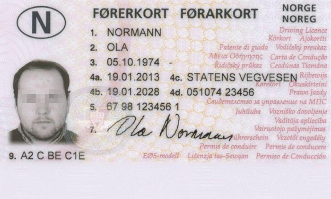 Førerkort.