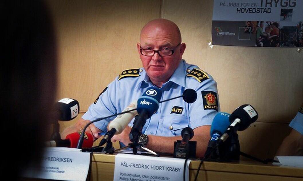 Stabssjef i Oslo politidistrikt, Johan Fredriksen.