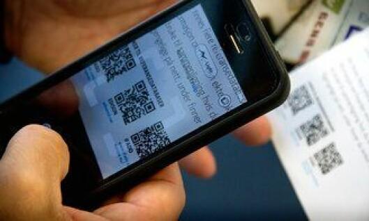 QR-kode-avlesing på mobilen er et effektivt hjelpemiddel for politiet.