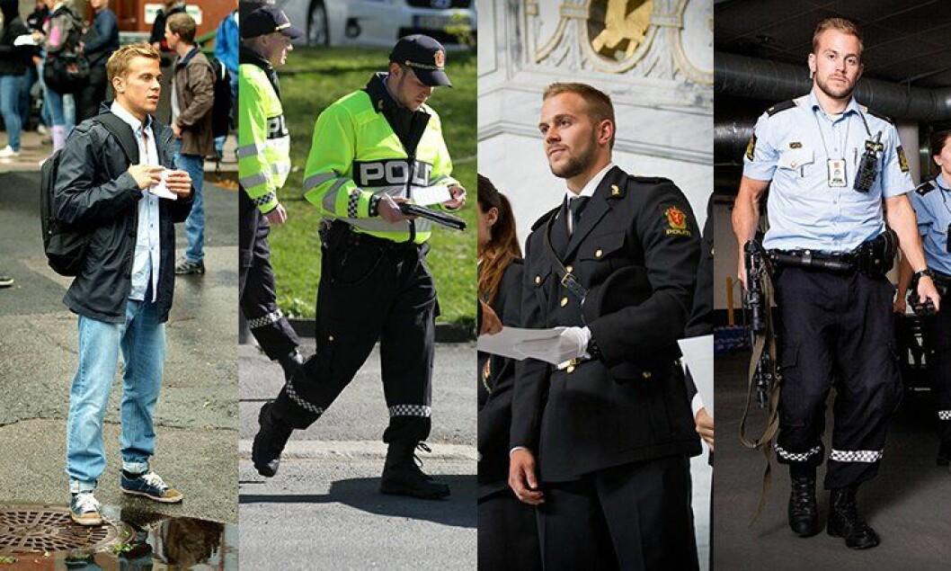 Fra første skoledag, gjennom praksis og studentavslutning, til første dag på jobb. Slik ble Sindre Evensen (24) politimann.