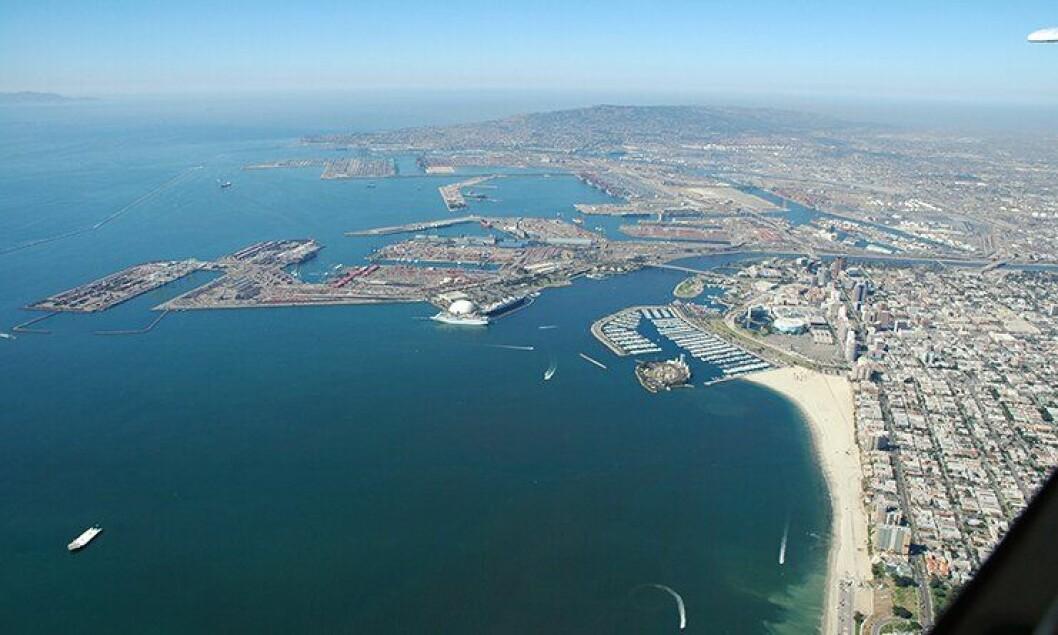 Havnebassenget utenfor Long Beach, Los Angeles.
