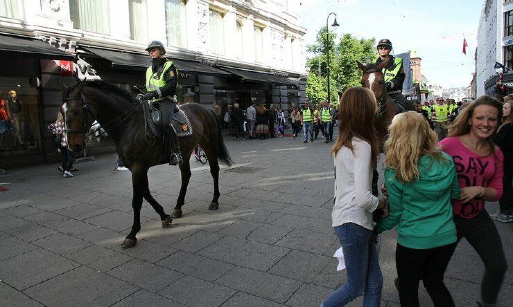 Hesteridning er blant det publikum kan se under Politiets dag lørdag.