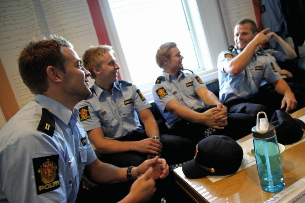 Første dag i praksisåret, på politistasjonen i Moss.