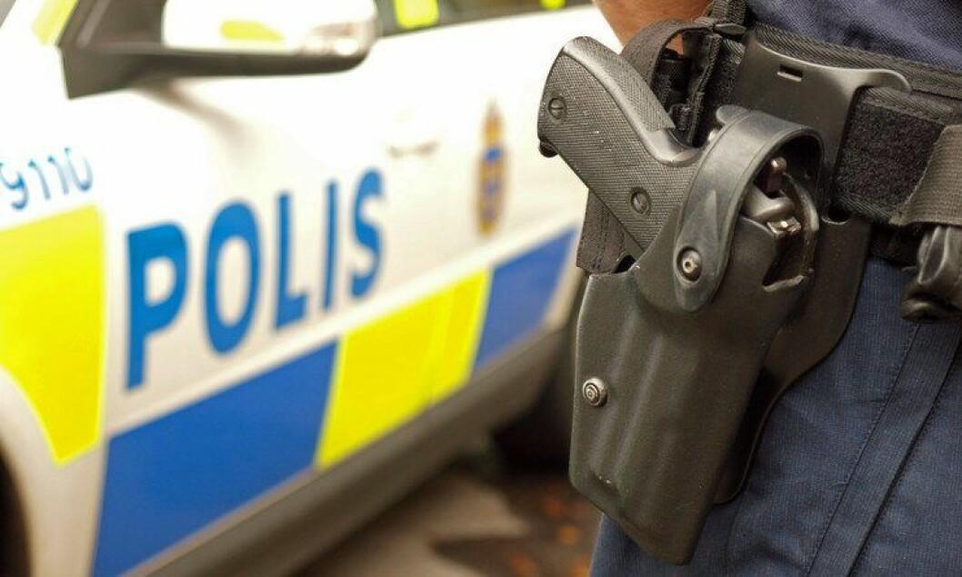 Bevæpnet politi i Sverige.