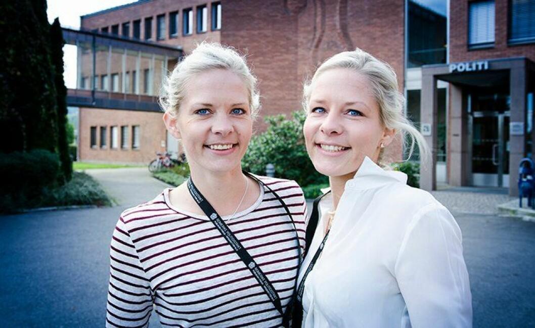 Tvillingsøstrene Camilla og Edith Ek Sørensen har samme bil, samme hund og samme oppvekst. Og de jobber begge som politiadvokater i Romerike politidistrikt