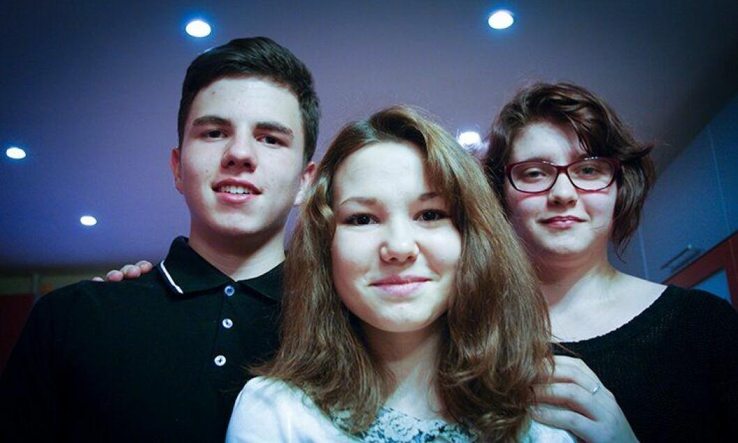Andrej, Vinjera og Kristina bor på barnehjemmet i Murmansk. De vil enten bli lærere eller studere.