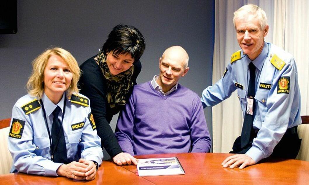 Krimsjef Elin Albrigtsen, HMS-rådgiver Gry Mossikhuset, PST-sjef i Salten Knut-Eirik Sølsnes og politimester Geir Ove Heir har alle jobbet med samarbeid og kommunikasjon.