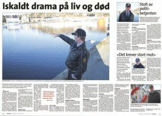 Faksimile fra Lindesnes avis.