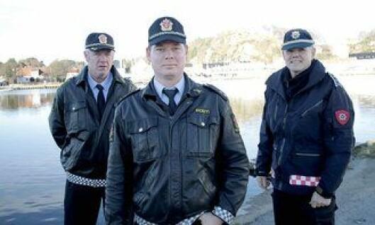 Bjart Gabrielsen, Børge Tronstad og brannsjef Jon Inge Aasen.