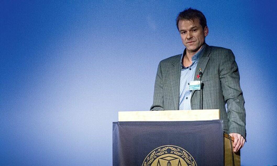 PF-leder Sigve Bolstad har forhåpninger til mer informasjon om politireformen under PFs landsmøte i Bodø. Her fra 2013-landsmøtet i Sarpsborg.