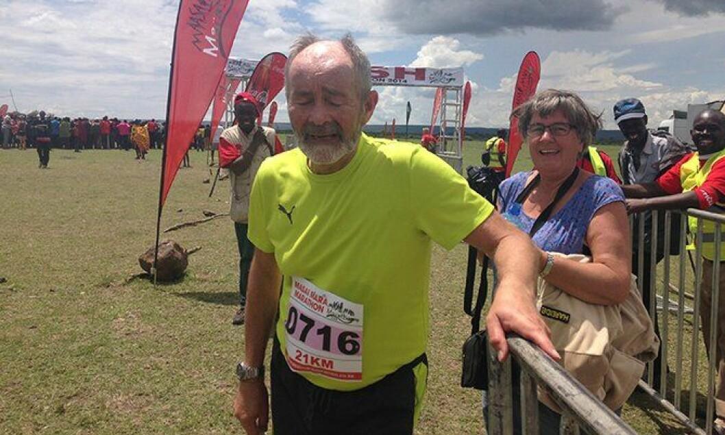 Den tidligere politimesteren og nå seniorrådgiver i Politidirektoratet (POD) Bjørn Hareide (66), ble den eldste som gjennomførte Masai Mara Maraton i Kenya.