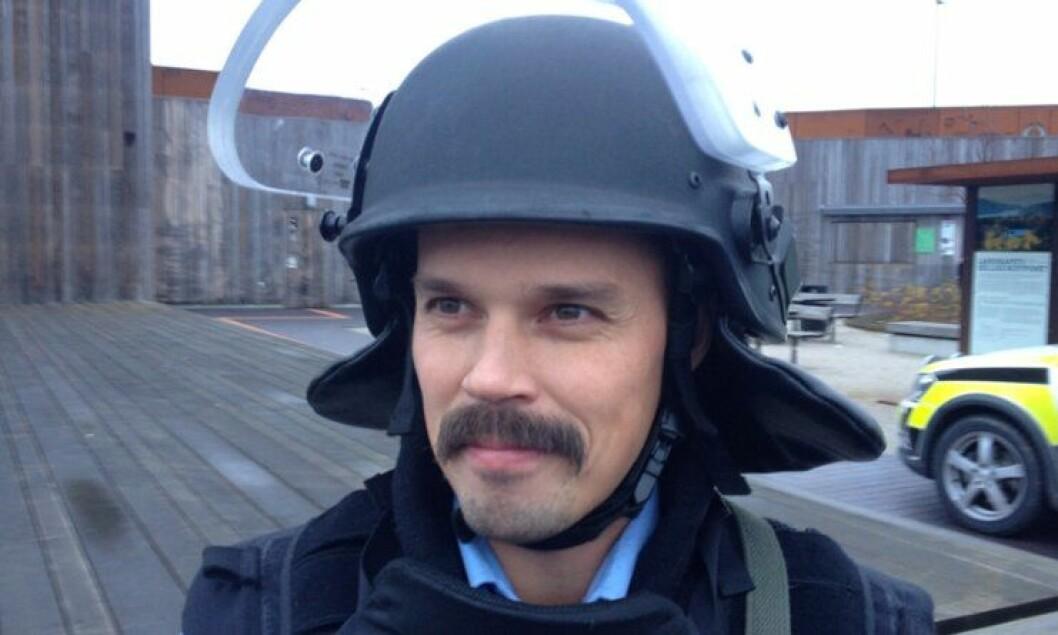 Espen Rekve Litlebø med årets politibart 2014.