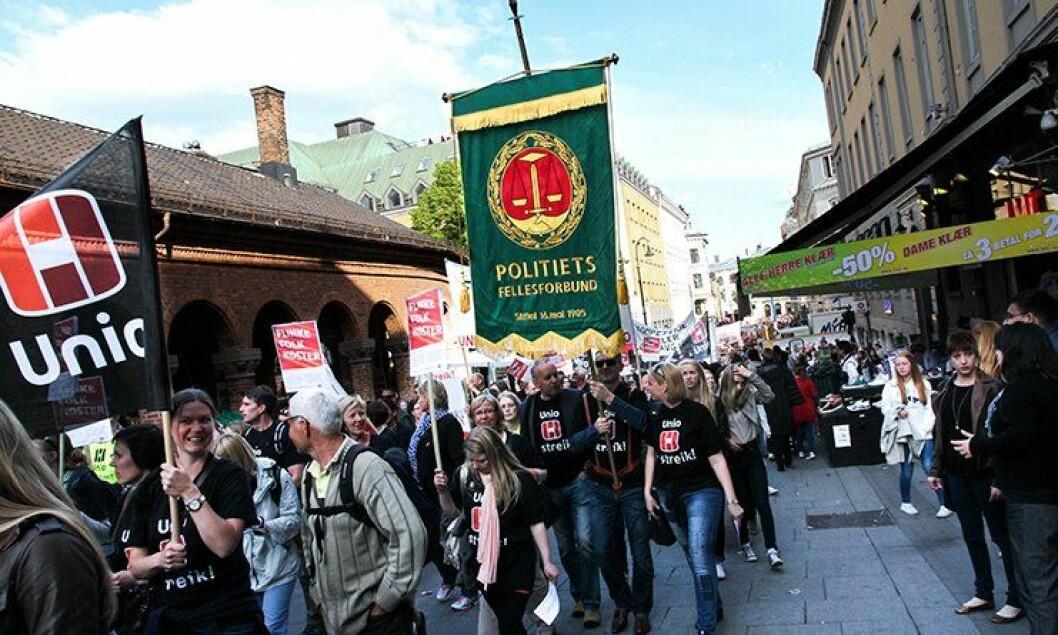 Det skal streikes 28. januar. Ingen uniform, men hold fanen hevet, oppfordrer Politiets Fellesforbund.