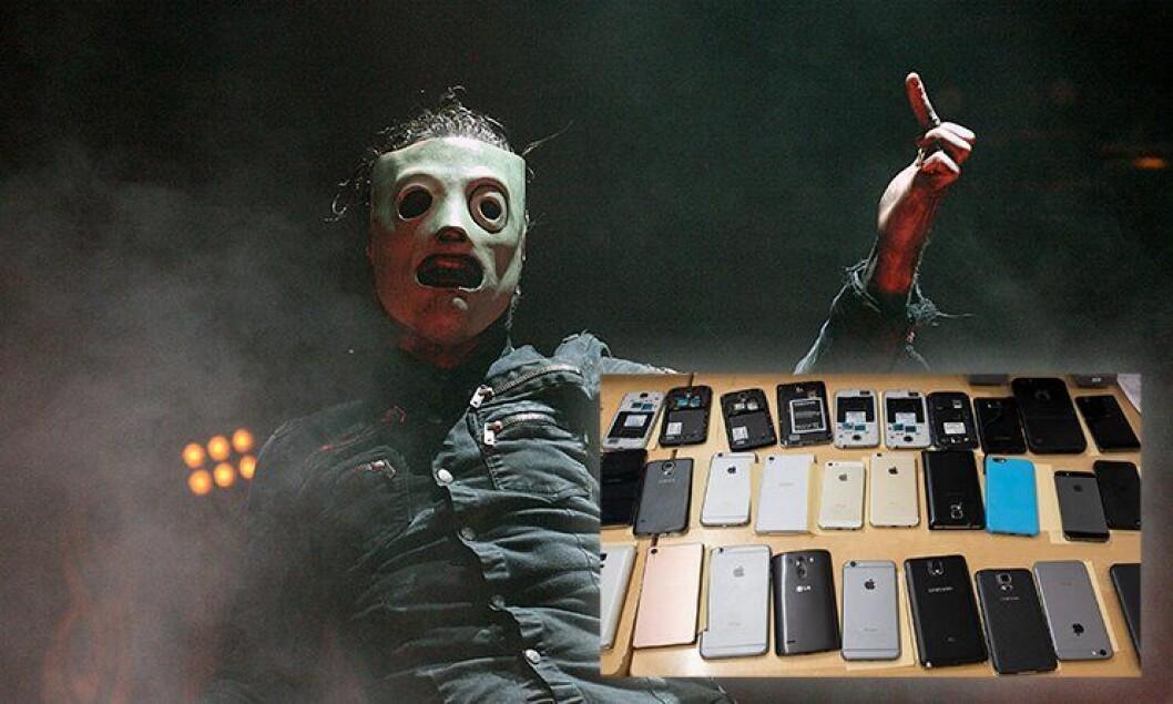 Bandet Slipknots konserter er preget av lommetyverier blant publikum. Også i Oslo.