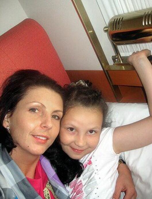 Kristina Sviglinskaja og datteren Monika.